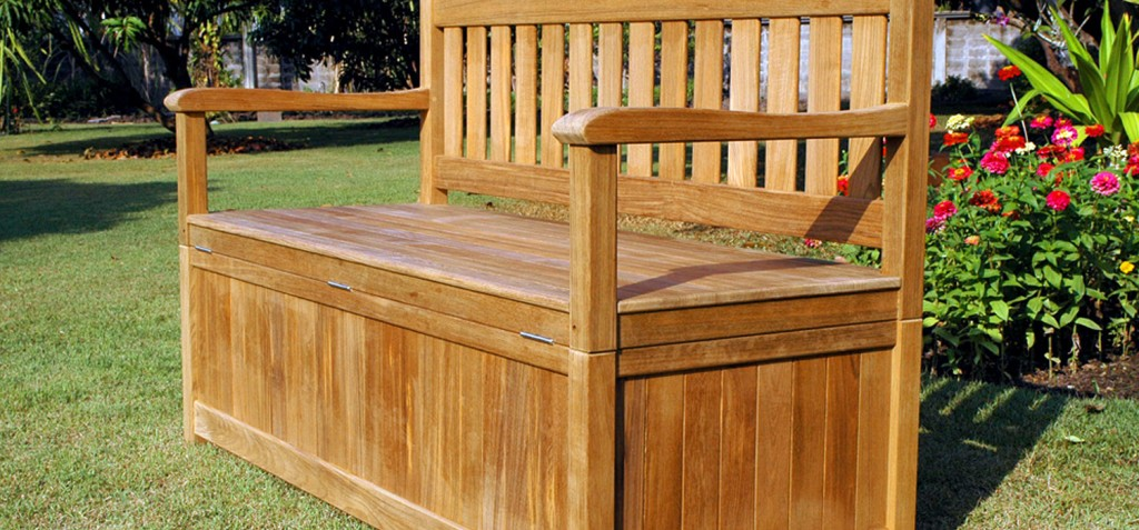 storage bench outdoor